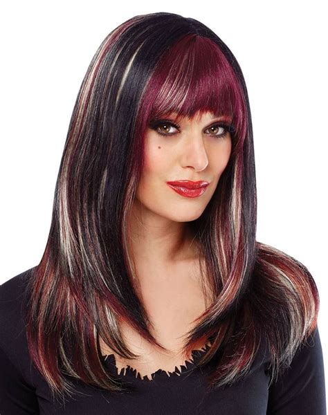hairstyles color and highlights 2014 violet highlights in brown hair deluxe black with