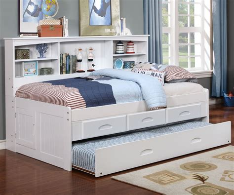 capitano white trundle bed with drawers our cambridge captain s day bed with trundle is a great