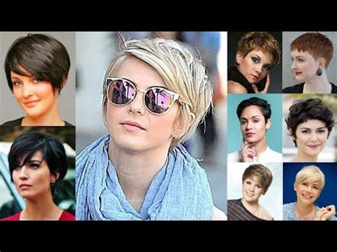 pixie hairstyles for round face and thin hair 2018 youtube