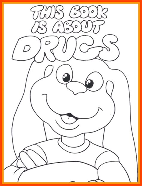 anti drug coloring pages