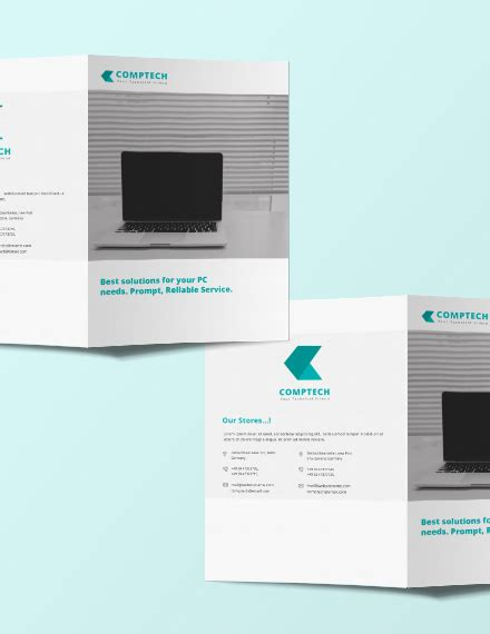 Computer Service Bi Fold Brochure Template Download 151 Brochures In Psd Illustrator Bi Fold Brochure Template Illustrator