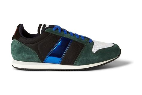 ami sneakers ami suede and metallic leather sneakers hypebeast
