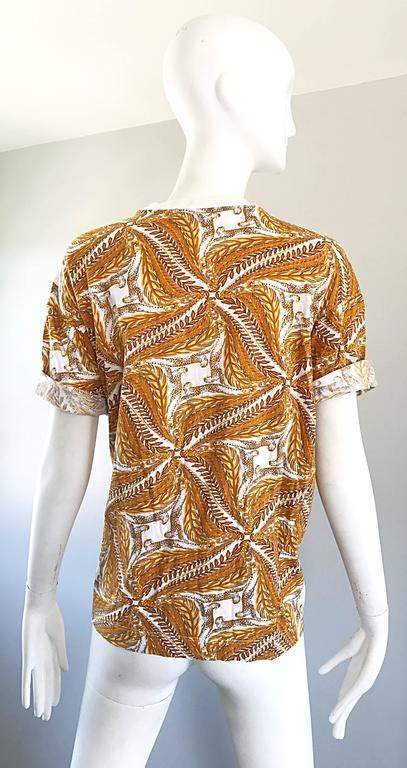 T Shirt Classic Style Cheetah Printed T Shirt 100 Cotton Sleeve Tshirt Big Size by Vintage Salvatore Ferragomo 1990s Cheetah Leopard And Wheat Print 90s Shirt For Sale At 1stdibs