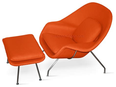 burnt orange chair and ottoman womb chair ottoman burnt orange modern armchairs