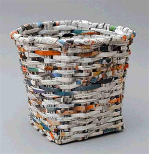 cestos en materiales reciclables 1000 manualidades reciclando papel bricoblog