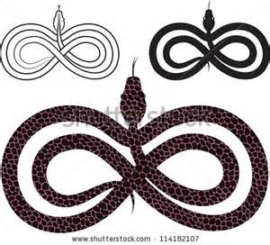 Infinity Snake Symbol Infinity Knot Stock Photos Images Pictures