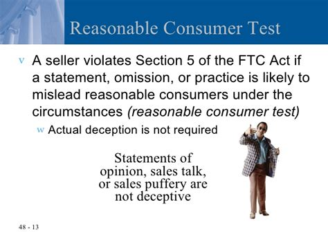 section 13 of consumer protection act chapter 48 the federal trade commission act and consumer