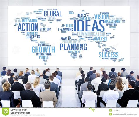 ideas unlimited seminars global business people conference seminar ideas concept