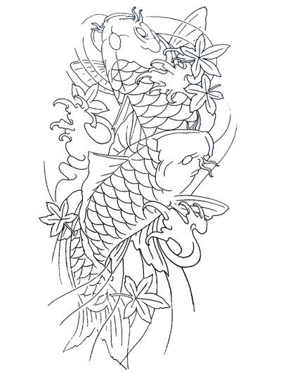 two koi fish outline www pixshark com images galleries
