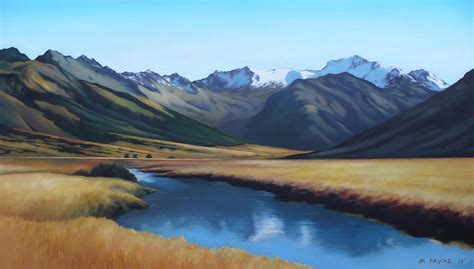 Landscape Photos New Zealand New Zealand Landscape Painting By Michael Payne