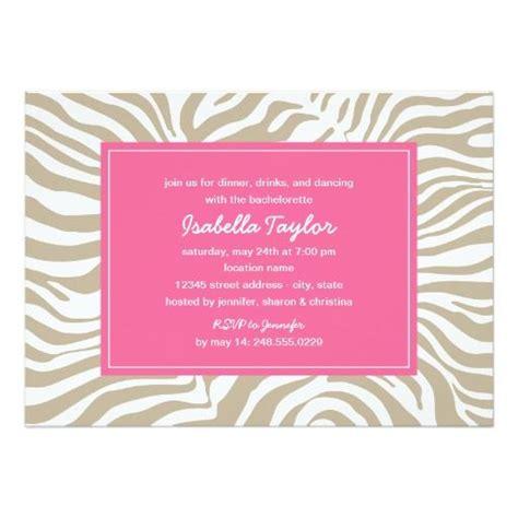 animal print wedding invitations bachelorette invitation zebra style animal print