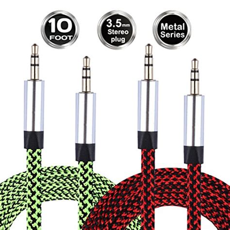 10 ft auxiliary cable best aux cable 10 ft for 2018 top techs