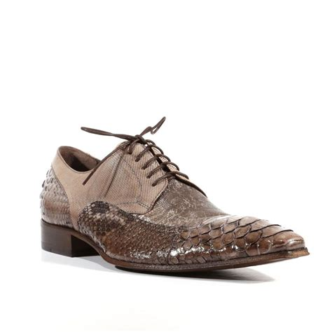 jo ghost mens shoes pitone crust tejus fango lizard python