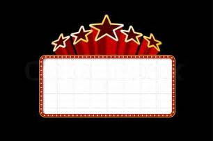 blank movie theater or casino marquee with stars isolated