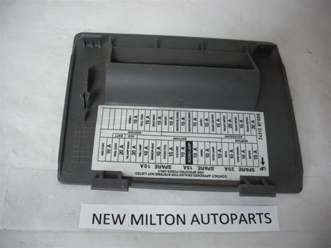soldnissan terrano  dash drivers side front fuse box cover rhd cars grey