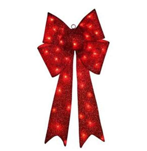 14 quot outdoor pre lit lighted red christmas bow holiday