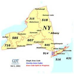 New York Area Codes Map index of state area code maps