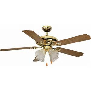 aloha 174 52 quot dual mount bright brass ceiling fan
