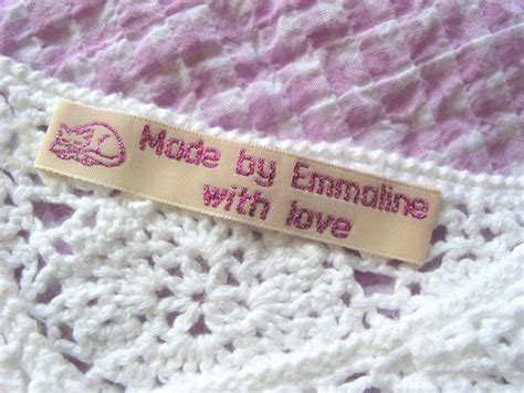 Sew On Labels For Handmade Items - woven labels for handmade items custom sewing labels