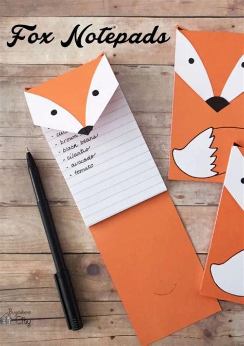 Fox Bahan Craft Diy diy free printable fox notepad from bugaboo city diy crafts bugaboo free