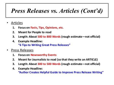 article information online marketing workshop using press releases to promote