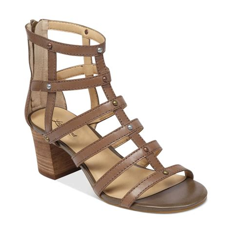 lucky brand sandals lucky brand lisbethe gladiator sandals in brown brindle