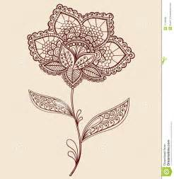 Lace Doily Henna Flower Vector Illustration Design » Home Design 2017