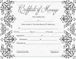 marriage certificate templates free wedding certificate templates free printable wedding