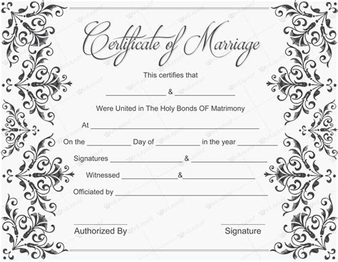 printable marriage certificate template 10 beautiful marriage certificate templates to try this season