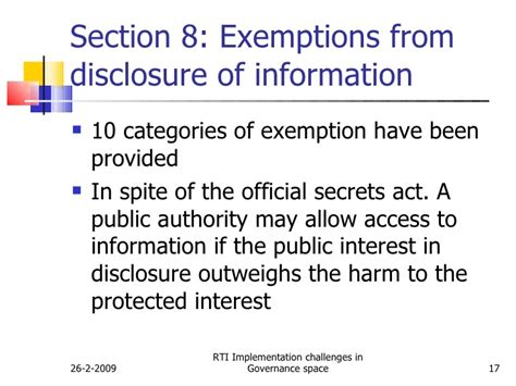 rti section 8 challenges of implementing rti in government space