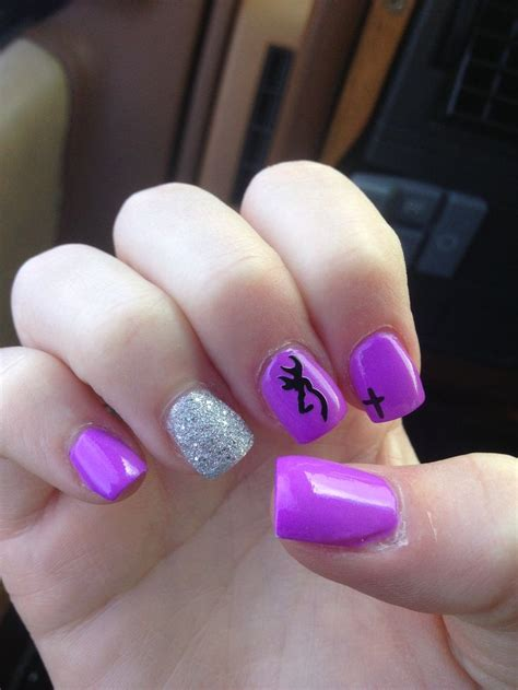 ispirato design purple not just for a girls bedroom cute purple nails with a cross and a browning sign in