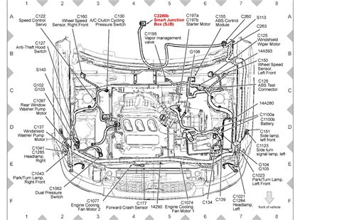 ford fusion engine diagram 2006 ford fusion engine diagram automotive parts diagram