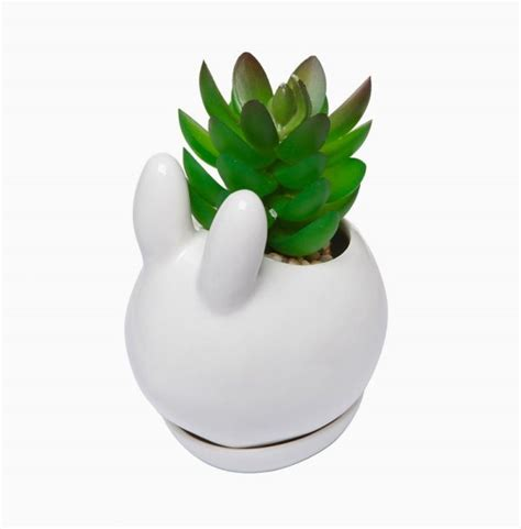 Rabbit Planter by 50 Unique Animal Planters To Help You Bring Nature Indoors