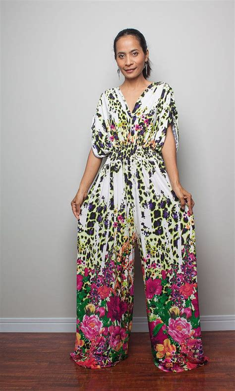 Jumper Bayi Jumpsuit Flower jumpsuit floral print jumper maxi dress with kimono top chic casual collection jumpsuits