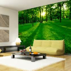 Hanging Wall Murals Forest Wood Landscape Trees Wallpaper Nature Photo