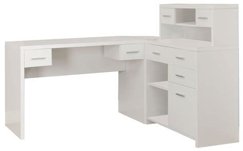 7028 White L Shaped Home Office Desk From Monarch I 7028 White L Shaped Office Desk