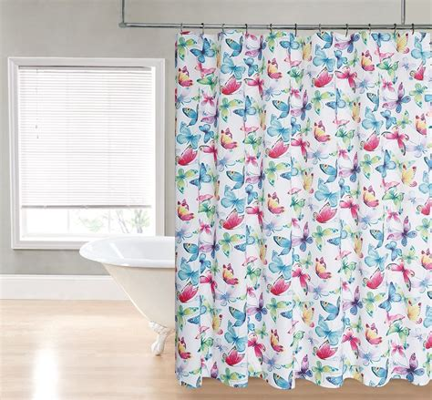Colorful Shower Curtains Bright Colorful Butterfly Printed Patternfabric Shower Curtain Ebay