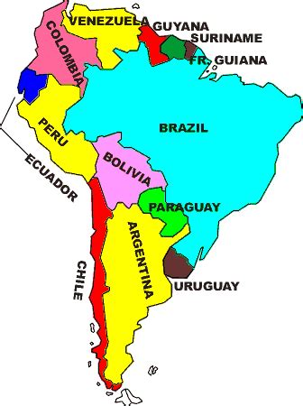 south america map with country names southamerica258 home