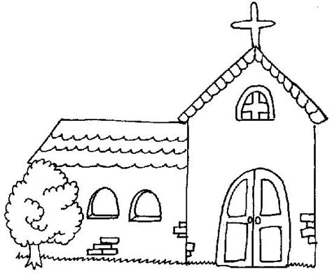 Church Building Coloring Pages For Children S Church