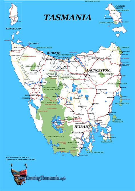 printable road map of tasmania tasmania quot breakohday quot
