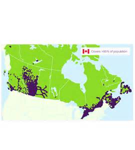 telus canada coverage map about telus coverage