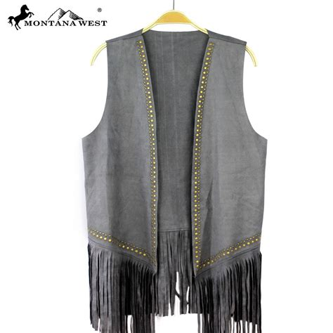 Www Pch Com Gold - pch 1636 montana west suede like fringe vest