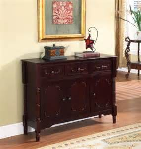 Cherry Buffet Table King S Brand R1021 Wood Console Sideboard Table With