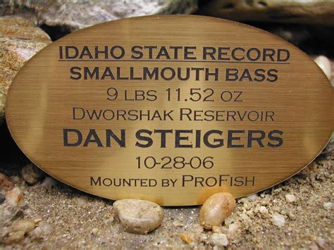 Idaho State Records Small Bass Pro Fish Taxidermy Grangeville Idaho