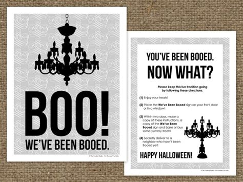 printable you ve been booed sign homespun with love 25 free halloween printables