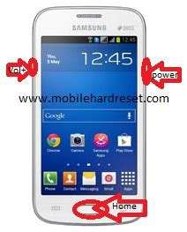 how to hard reset/factory reset samsung galaxy star pro s7262
