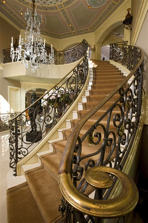 Grand Stairs Design Grand Staircase Traditional Staircase Minneapolis By Kraemer Sons