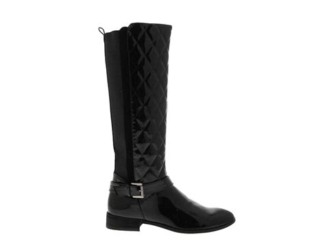 Wide Calf Quilted Boots by Womens Quilted Wide Calf Stretch Boots Knee High Size Uk 3 8 Ebay