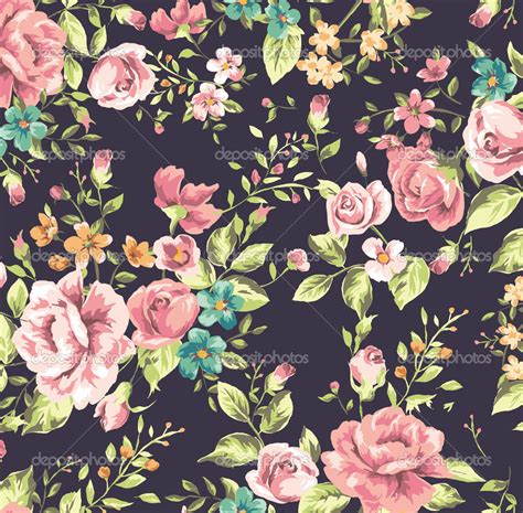 pattern vintage flower intannaly just the way i am