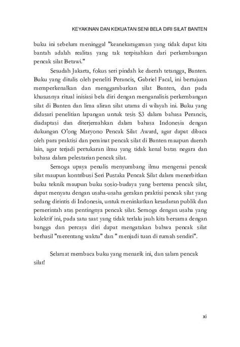 Buku Keyakinankekuatan Seni Bela Diri Silat Banten Gabriel Facal R3 jual buku keyakinan dan kekuatan seni bela diri silat banten oleh gabriel facal gramedia